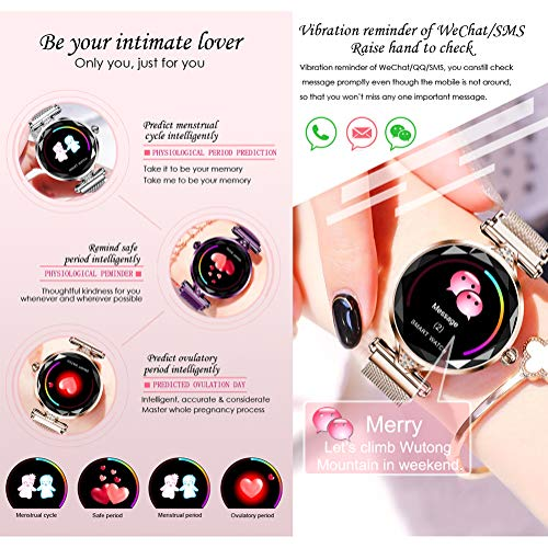 TCYLZ H1 Female Smart Watch, for Women Outdoor Smart Sports Watch with, Waterproof Sleep & Blood Pressure Oxygen Monitor… 5
