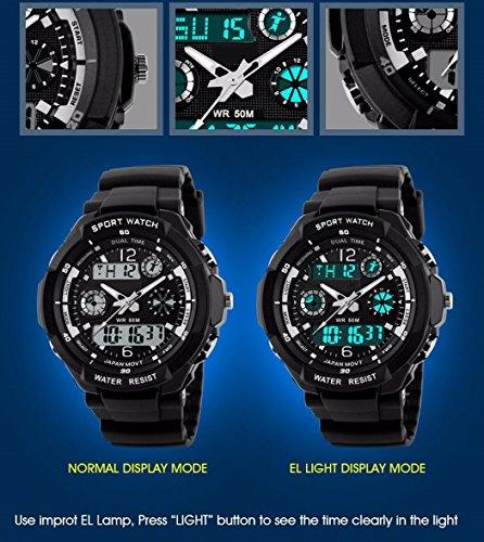 TOPCABIN Digital-Analog Kids Teenager Boys Girls Sport Digital Watch with Alarm Stopwatch Chronograph - 50m Water Proof… 3