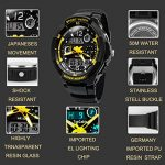 TOPCABIN Digital-Analog Kids Teenager Boys Girls Sport Digital Watch with Alarm Stopwatch Chronograph - 50m Water Proof… 19