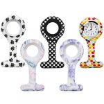 TRIXES Fob Watch - Nurses Watch Fob - 5PC Customise Silicone Casing with Assorted Patterns - for Doctors Vets and… 19