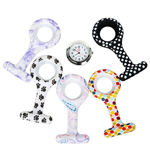 TRIXES Fob Watch - Nurses Watch Fob - 5PC Customise Silicone Casing with Assorted Patterns - for Doctors Vets and… 6