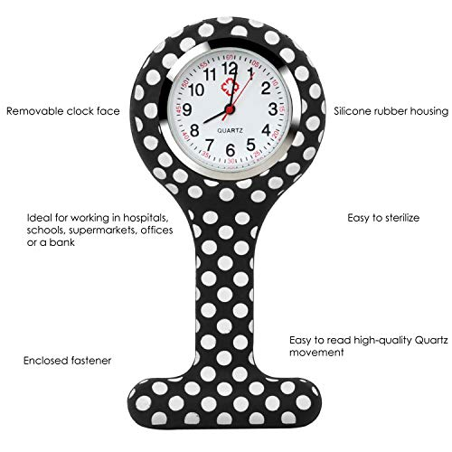 TRIXES Fob Watch - Nurses Watch Fob - 5PC Customise Silicone Casing with Assorted Patterns - for Doctors Vets and… 7