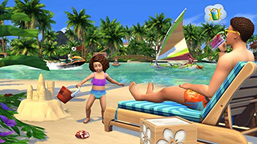 The Sims 4 Plus Island Living Deluxe Upgrade Bundle (Digital Download Code in a Box) PC DVD 5