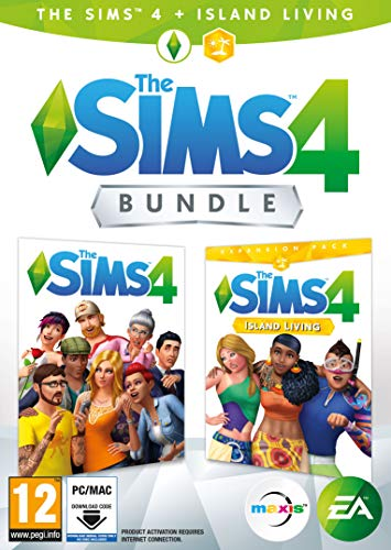 The Sims 4 Plus Island Living Deluxe Upgrade Bundle (Digital Download Code in a Box) PC DVD 1