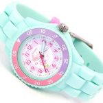 Tikkers Children's Girls Aqua Green Flowers Theme Silicone Time Teacher/Tutor Watch - NTK0004 14