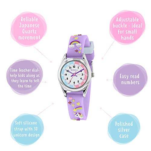 Tikkers Girls Analogue Classic Quartz Watch with silicone strap TK0145 3