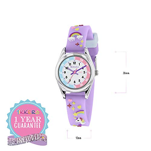 Tikkers Girls Analogue Classic Quartz Watch with silicone strap TK0145 4