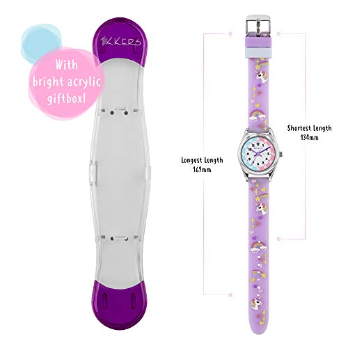 Tikkers Girls Analogue Classic Quartz Watch with silicone strap TK0145 5