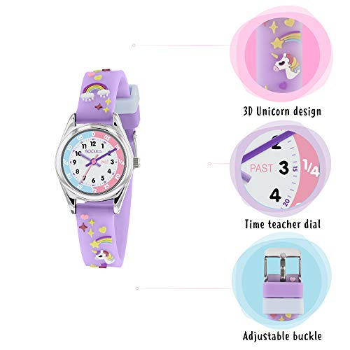 Tikkers Girls Analogue Classic Quartz Watch with silicone strap TK0145 7
