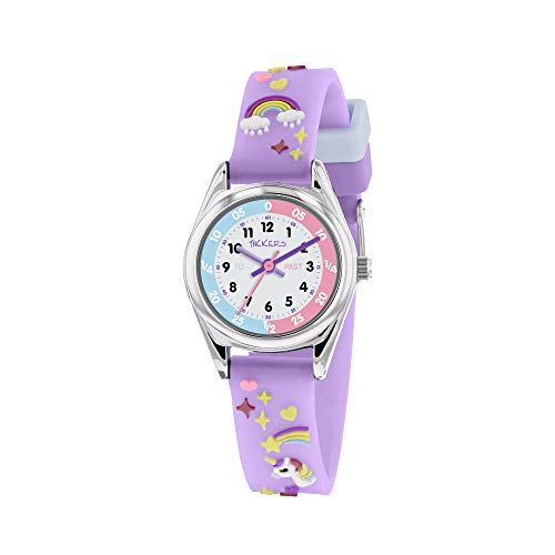 Tikkers Girls Analogue Classic Quartz Watch with silicone strap TK0145 1