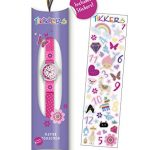 Tikkers Girls' Analogue Quartz Watch with Fabric and Canvas Strap – TK0119 19