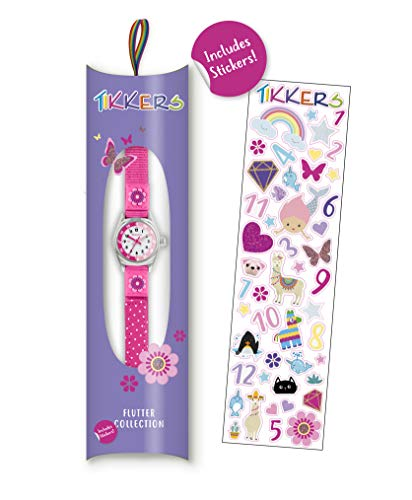Tikkers Girls' Analogue Quartz Watch with Fabric and Canvas Strap – TK0119 4