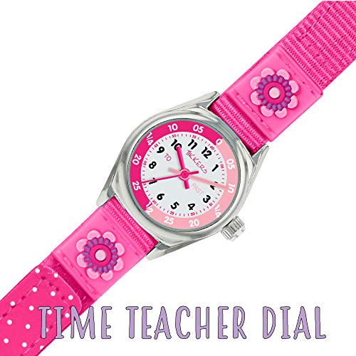 Tikkers Girls' Analogue Quartz Watch with Fabric and Canvas Strap – TK0119 5