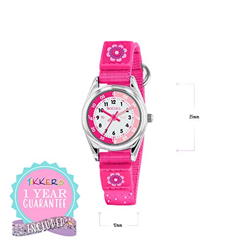 Tikkers Girls' Analogue Quartz Watch with Fabric and Canvas Strap – TK0119 6