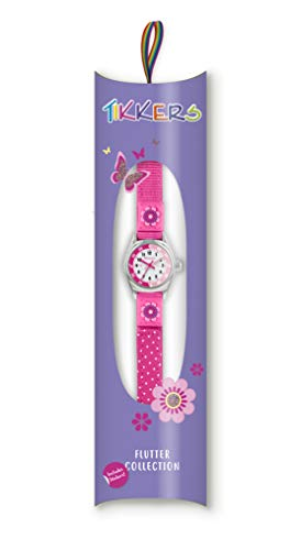 Tikkers Girls' Analogue Quartz Watch with Fabric and Canvas Strap – TK0119 7