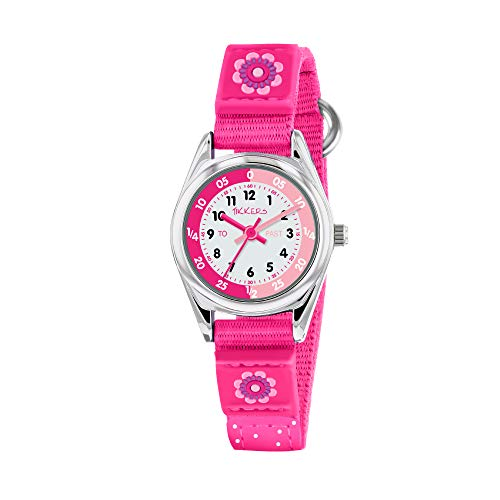 Tikkers Girls' Analogue Quartz Watch with Fabric and Canvas Strap – TK0119 1