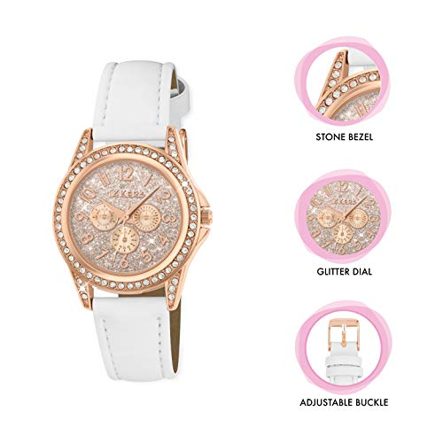 Tikkers Girl's Analogue Quartz Watch with Imitation Leather Strap TK0129 3