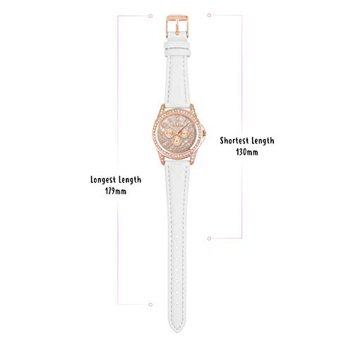Tikkers Girl's Analogue Quartz Watch with Imitation Leather Strap TK0129 4