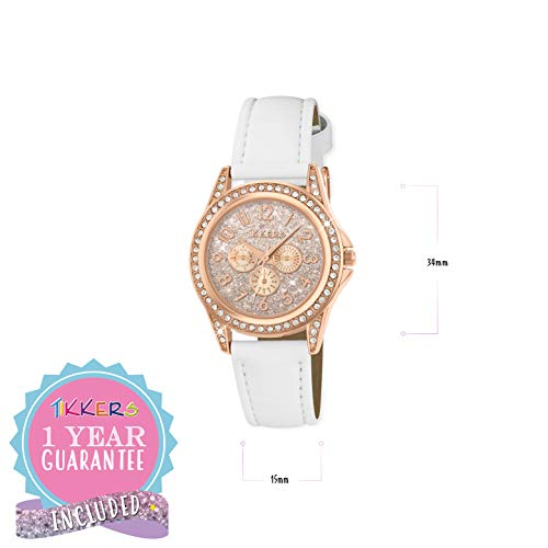 Tikkers Girl's Analogue Quartz Watch with Imitation Leather Strap TK0129 5