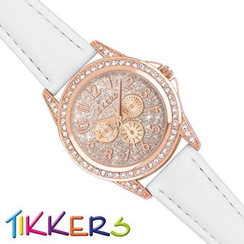 Tikkers Girl's Analogue Quartz Watch with Imitation Leather Strap TK0129 6