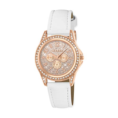 Tikkers Girl's Analogue Quartz Watch with Imitation Leather Strap TK0129 1