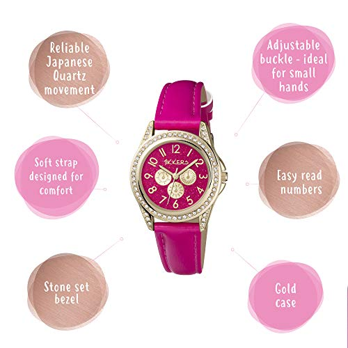 Tikkers Girl's Analogue Quartz Watch with Imitation Leather Strap TK0130 3
