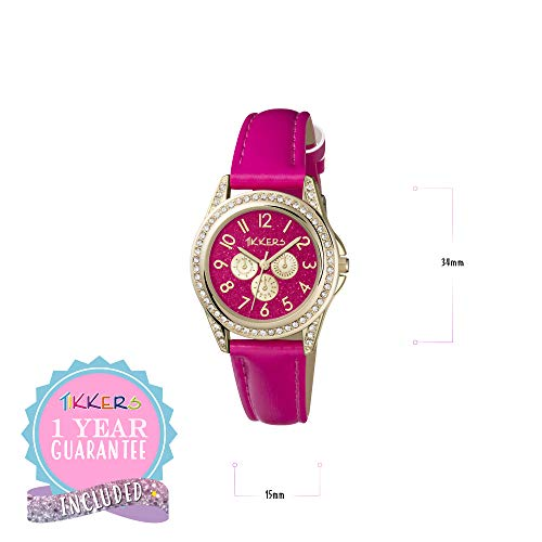 Tikkers Girl's Analogue Quartz Watch with Imitation Leather Strap TK0130 5