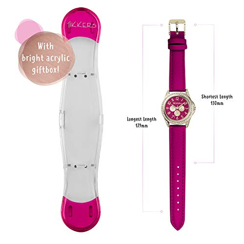 Tikkers Girl's Analogue Quartz Watch with Imitation Leather Strap TK0130 6
