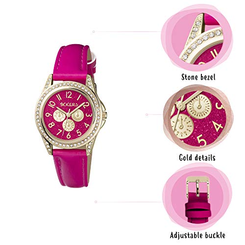Tikkers Girl's Analogue Quartz Watch with Imitation Leather Strap TK0130 7