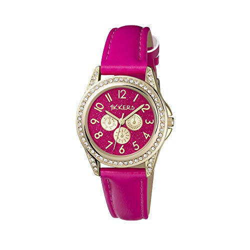 Tikkers Girl's Analogue Quartz Watch with Imitation Leather Strap TK0130 1