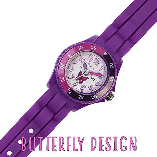 Tikkers Girls' Analogue Quartz Watch with Rubber Bracelet – TK0041 3
