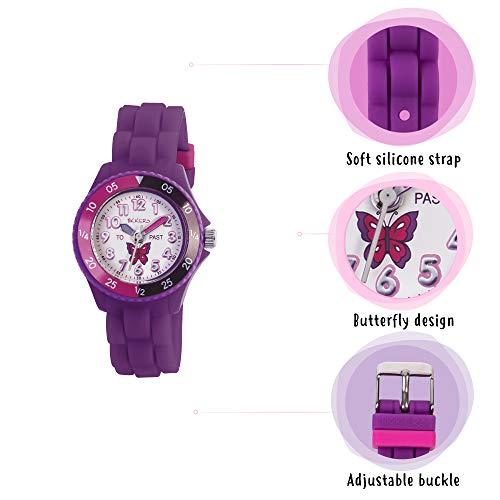 Tikkers Girls' Analogue Quartz Watch with Rubber Bracelet – TK0041 5