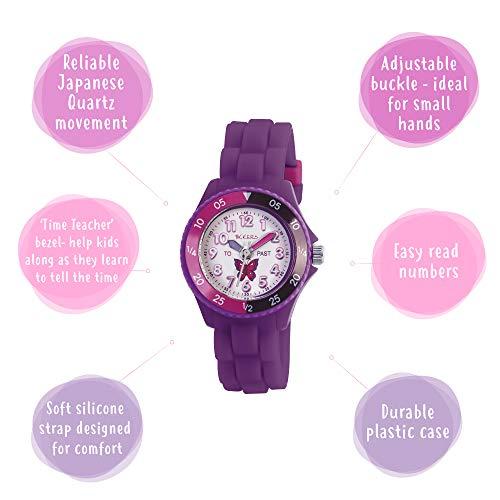 Tikkers Girls' Analogue Quartz Watch with Rubber Bracelet – TK0041 6