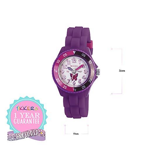 Tikkers Girls' Analogue Quartz Watch with Rubber Bracelet – TK0041 7