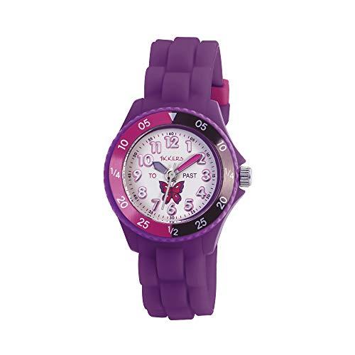 Tikkers Girls' Analogue Quartz Watch with Rubber Bracelet – TK0041 1