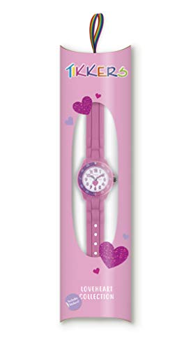 Tikkers Kids Time Teacher Pink Rubber/Silicone Strap Watch TK0003 Heart Design 7