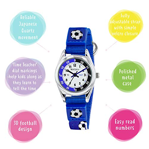 Tikkers TK0122 Boys Analogue Quartz Watch with Fabric and Canvas Strap 3