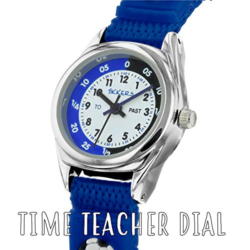 Tikkers TK0122 Boys Analogue Quartz Watch with Fabric and Canvas Strap 4