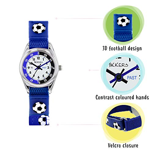 Tikkers TK0122 Boys Analogue Quartz Watch with Fabric and Canvas Strap 5