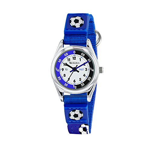 Tikkers TK0122 Boys Analogue Quartz Watch with Fabric and Canvas Strap 1