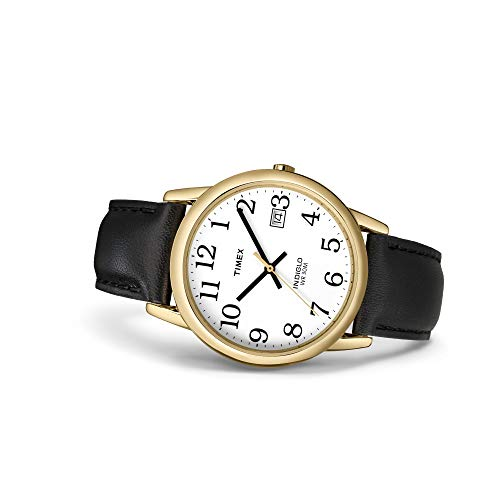 Timex Men's Easy Reader 35 mm Leather Strap Watch 5