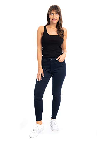 UC Womens Ex High Street Brand Super Skinny High Waisted Jeans Ladies Stretch Ankle Grazer Pants 4