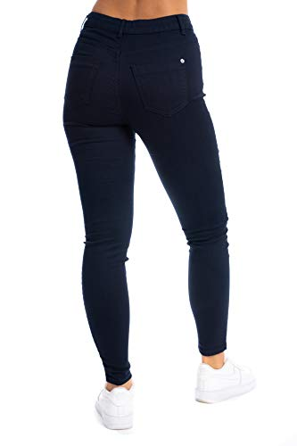 UC Womens Ex High Street Brand Super Skinny High Waisted Jeans Ladies Stretch Ankle Grazer Pants 8