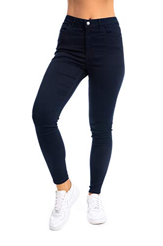 UC Womens Ex High Street Brand Super Skinny High Waisted Jeans Ladies Stretch Ankle Grazer Pants 1
