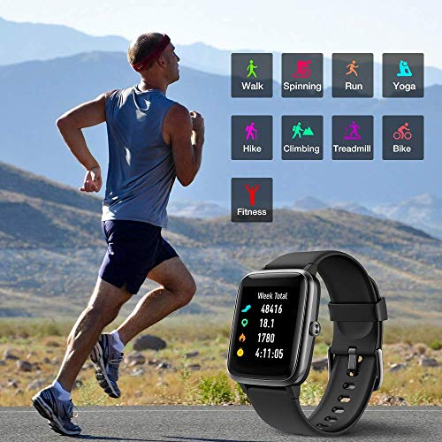 UMIDIGI Uwatch3 Smart Watch Fitness Trackers with 5ATM Waterproof All-Day Heart Rate and Sleep Monitoring Activity… 4