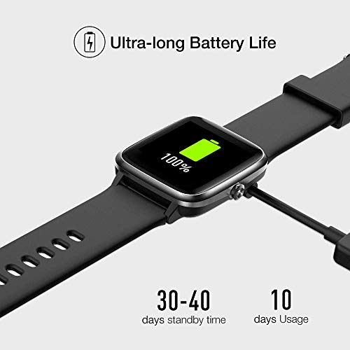 UMIDIGI Uwatch3 Smart Watch Fitness Trackers with 5ATM Waterproof All-Day Heart Rate and Sleep Monitoring Activity… 5