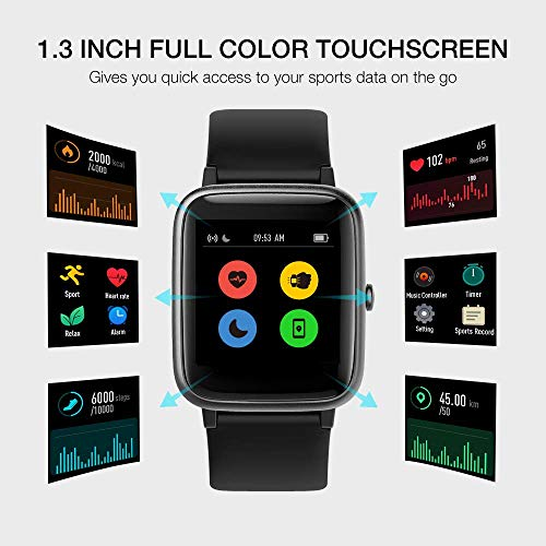 UMIDIGI Uwatch3 Smart Watch Fitness Trackers with 5ATM Waterproof All-Day Heart Rate and Sleep Monitoring Activity… 6