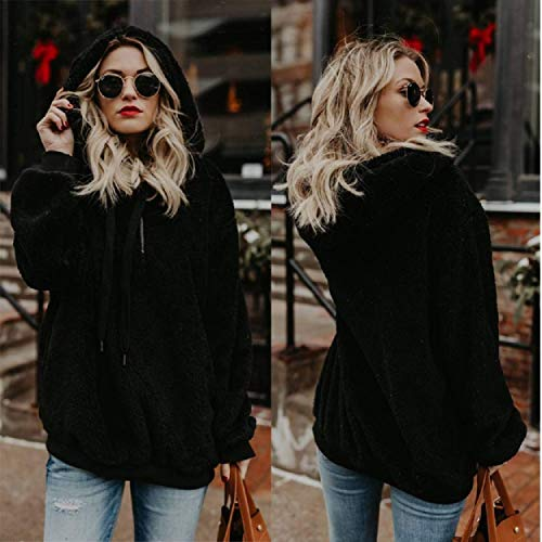 UMIPUBO Womens Sweatshirt Fuzzy Casual Loose Velvet Sweater Long Sleeve Teddy Fleece Hoodies with Pockets Hoodie… 3