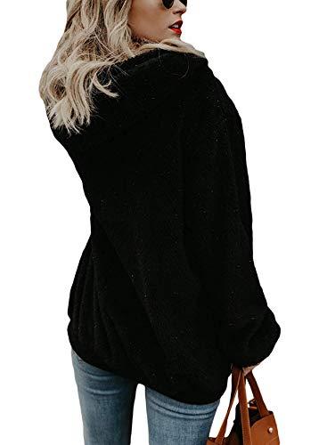 UMIPUBO Womens Sweatshirt Fuzzy Casual Loose Velvet Sweater Long Sleeve Teddy Fleece Hoodies with Pockets Hoodie… 4