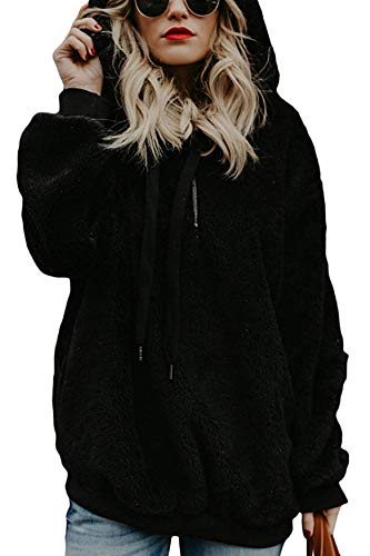 UMIPUBO Womens Sweatshirt Fuzzy Casual Loose Velvet Sweater Long Sleeve Teddy Fleece Hoodies with Pockets Hoodie… 1